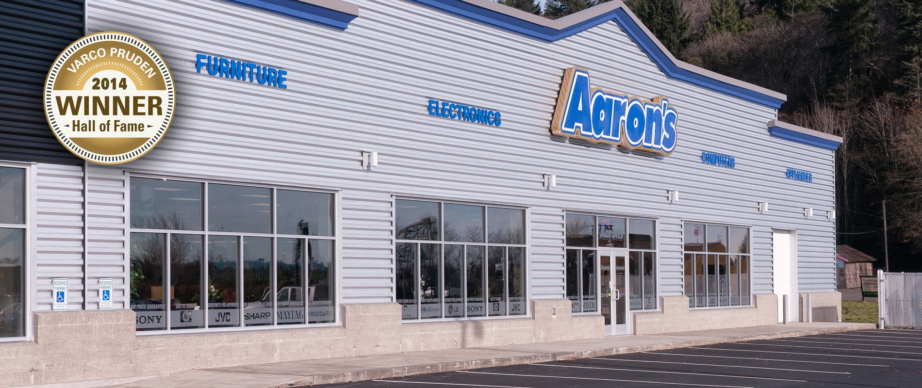 Award winning pre-manufactured metal building system. WA Aaron's Furniture.